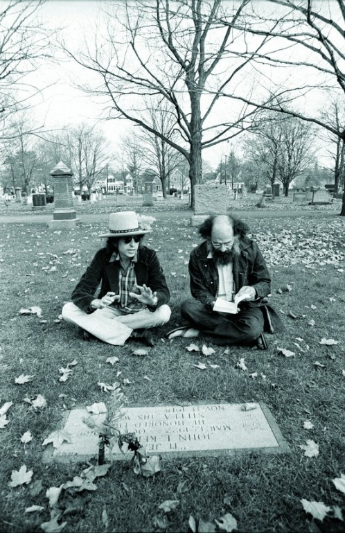 Bob Dyan and Allen Ginsberg